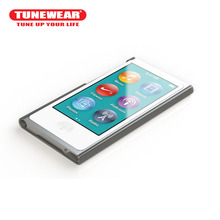 Tunewear Hard Case for iPod Nano 8 and Nano 7 Ultra thin transparent Smoke White screen protector included(China)