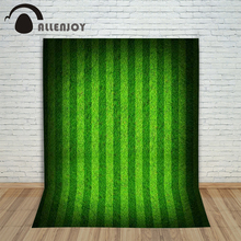 Allenjoy Background for photos Football field stripes light green movement children's photographic camera backdrop vinyl