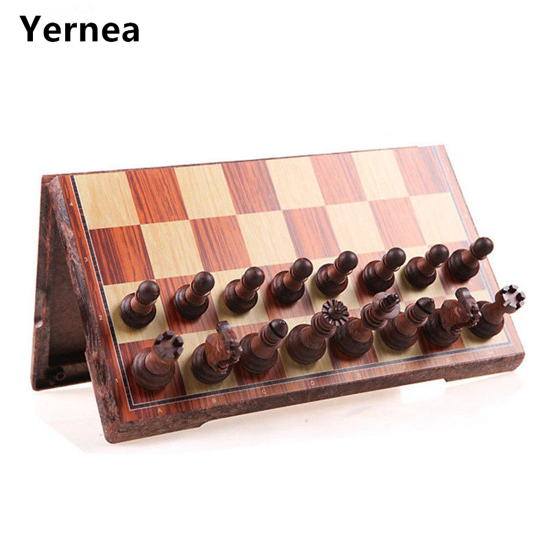 High-grade Chess Game Wooden WPC Chess Folded Board International magnetic Game Set Exquisite Puzzle Games Board Game Yernea<br>