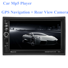 7021G 7 inch 2 Din Auto Multimedia Player GPS Navagation Bluetooth Car MP5 Player with FM Radio Rear View Camera Remote Control