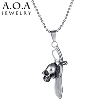 2017 Novelty Skull Pendant Necklaces Charms Stainless Steel Sword Necklace For Boyfriend Gift
