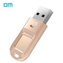DM PD065 High-speed USB Flash Drive Recognition Fingerprint Encrypted Usb stick 32GB 64GB Pen Drive Security Memory usb 2.0 disk(China)