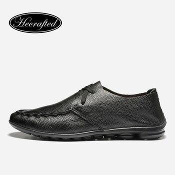 Hecho a mano de cuero suave Genuino de Los Hombres de cuero zapatos de los planos 2017 de otoño zapatos de marca para los hombres, Original Hecrafted men #5128