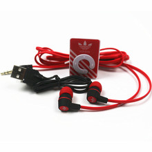 Portable MP3 Clip Mini MP3 Player Music MP3 + Stereo Earphone + USB Cable Support Micro SD Card Hot sales