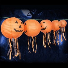 Pumpkin Light Halloween Decoration New Convenient Hanging Paper Lantern Lamp Outdoor Party Supplies -46
