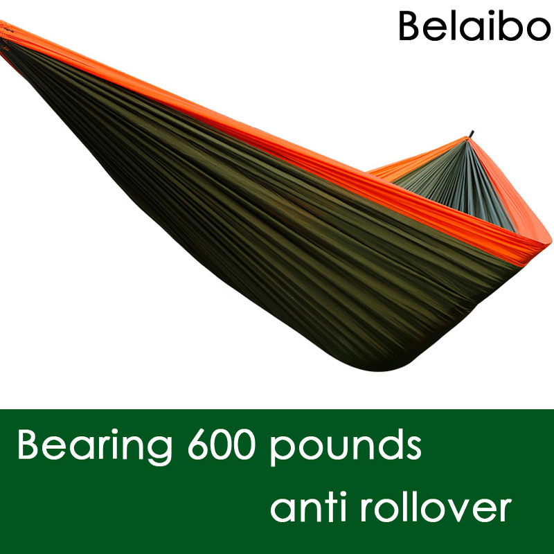 Furniture size Hanging Sleeping Bed Parachute Nylon Fabric Outdoor Camping Hammocks Double Person Portable Hammock Swing Bed<br>
