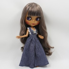Free shipping factory blyth doll BL8800/0222 mix hair with bangs/fringes dark skin joint body 1/6 bjd neo gift toy