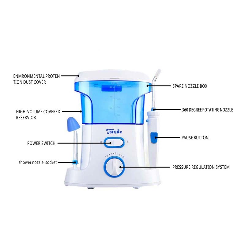 Water Pick Dental Flosser Oral Irrigator Water Flosser Portable Irrigator Dental Floss Water Floss Pick Dental Oral Irrigation<br>
