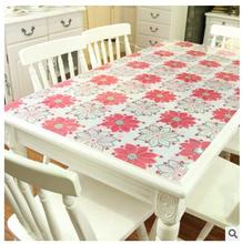 Soft glass table cloth color PVC board crystal board printed tablecloth