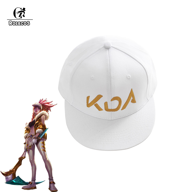 Boys Costume Accessories Game Lol Kda Akali Cosplay Props Hats Men Woman Hip Hop Cap Canvas Hand Embroidery Baseball Caps Hats Sun Demo Hat New Costumes & Accessories