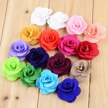 DHL Free Hot New On Sale 800pcs/lot Dia.4CM Mini Hair Flower WITHOUT CLIP Quality Rose Flat Back For girl Headband DIY TH13