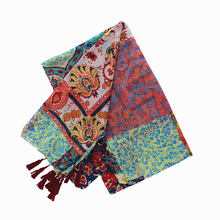 2017 New Fashion Brand Winter Scarf Women Designer National Flower Printed Pashmina Shawls and Scarves Soft Foulard Bufandas