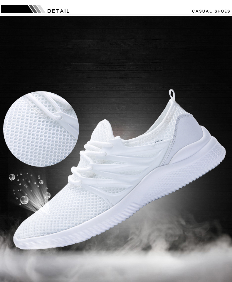 2018 New Arrivals Men's Fashion Summer Casual Shoes Man Sneakers Breathable Trainers Male Footwear Adult Krasovki Plus Size 45 42 Online shopping Bangladesh