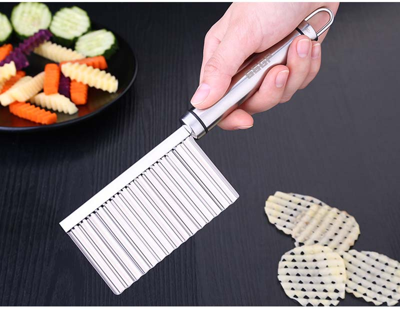 BalleenShiny Potato Slicer Cutter Knife Kitchen Gadgets Accessories Cooking Tools Stainless Steel Fruit Vegetable Chip Cut tool 14