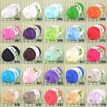 6 Pcs/lot 1.76oz/50g Super Soft Natural Bamboo Cotton Knitting Yarn Lace, Thread Yarn for hand knitting crocheting - 25 Colors