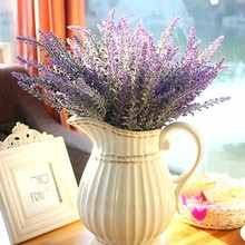 1pcs Provence lavender flower silk tomentum artificial flowers grain decorative fake flores bouquet Simulation of aquatic plan(China)