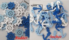 WBNLNS Mixed Anchor&Rudder DIY Decorative Scrapbooking embellishments 100pcs Mix colors crafts accessories