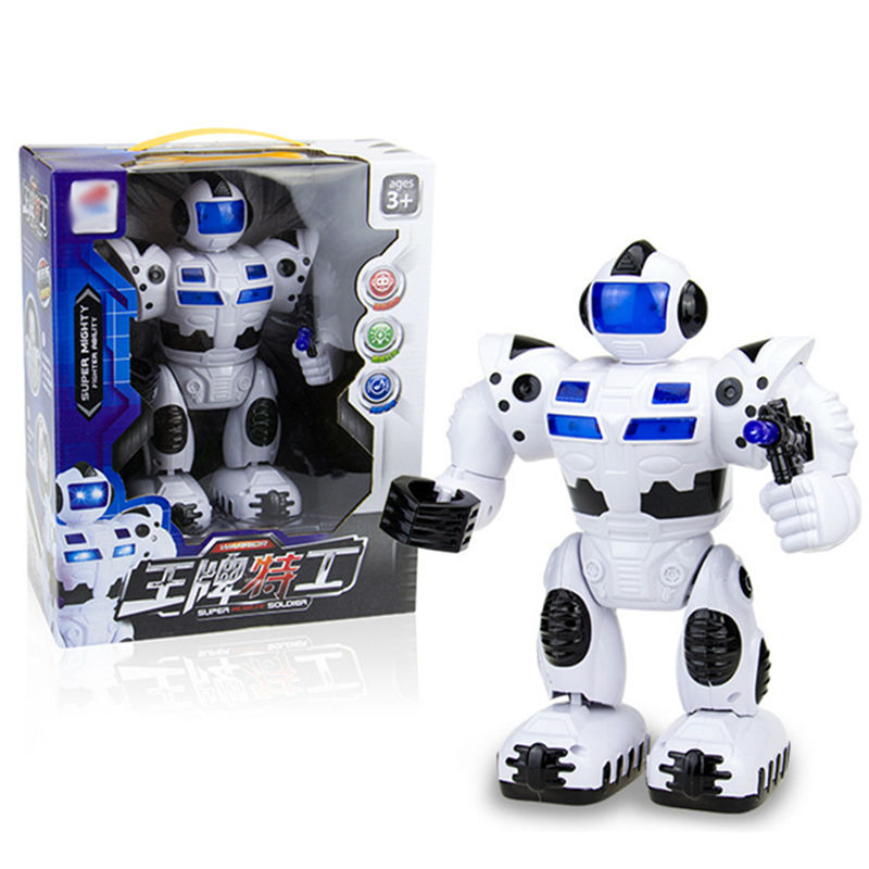 2017 New Kids Electronic Toy Walking Robot Hand-Moving Girls Boys with Colorful Lights and Misic Classic Dolls For Baby Gifts<br><br>Aliexpress