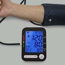 Home Health Care Digital LCD Upper Arm Blood Pressure Monitor Tonometer for Measuring Automatic Heart Beat Meter Machine(China)