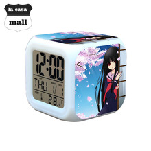 Japanese cartoon PROJECT Hell girl figures for kids cute lovely Gifts for Children colorful light Action Figures Alarm Clock
