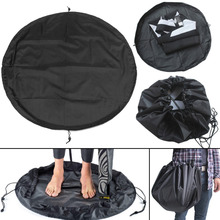 New Black Nylon Waterproof Wetsuit Changing Mat Carry Bag for Beach Surfing Swimming Wetsuit Change Pad Diameter 90cm