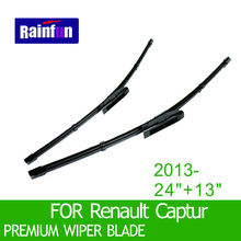 "S550 Wipers Size:24""+13""Fit For Renault Captur(2013 onwards)Wiper blade rubber replacement Limpiaparabrisas Essuie glace"