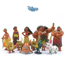 Disney Toys 12pcs/lot 3.5-7cm Moana Princess Action Figures Toys Maui Waialik Tala Heihei Gift Doll Plastic Anime Toy Gift