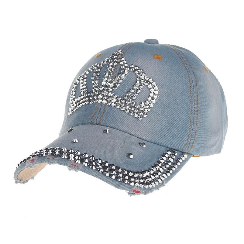 ... Baseball Cap Women Men 2018 New Summer Diamond Snapback Hat Hippie Hip-Hop  Adjustable Casual ... b025e8cd5769