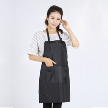 HOT Black Adjustable Apron Bib Uniform With 2 Pockets Hairdresser Salon Hair Tool(China)