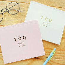 100 days Plan this course Filofax Notebook Paper Notepad 50 Sheets Slimming Records study plan JUGAL(China)