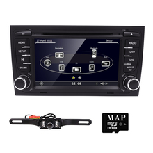 Factory Price for Audi A4 car dvd player GPS central multimedia with Radio Bluetooth 3G SD/VCD/CD/CD-R/6 CD virtua RDS