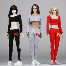 1/6 Female Action Figure Clothes Running Sport Suit & Shoes for 12 inches Figure Accessories(China)
