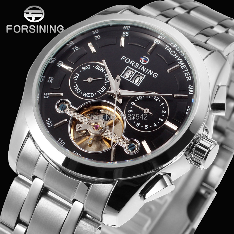 Forsining new Automatic men  fashion watch with stainless steel band FSG9404M4S1<br>