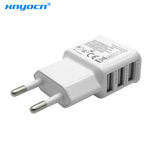 Xnyocn Fast Charging 5V 3.4A 3-Port USB Home Travel Wall Charger AC Charger Adapter For Cell Phone Tablet (EU US Plug )