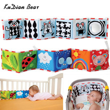 KUDIAN BEAR Colorful Patterns Baby Mobile Cloth Book Crib Bed Around Soft Plush Early Educational Cot Baby Toys BYC072 PT49(China)