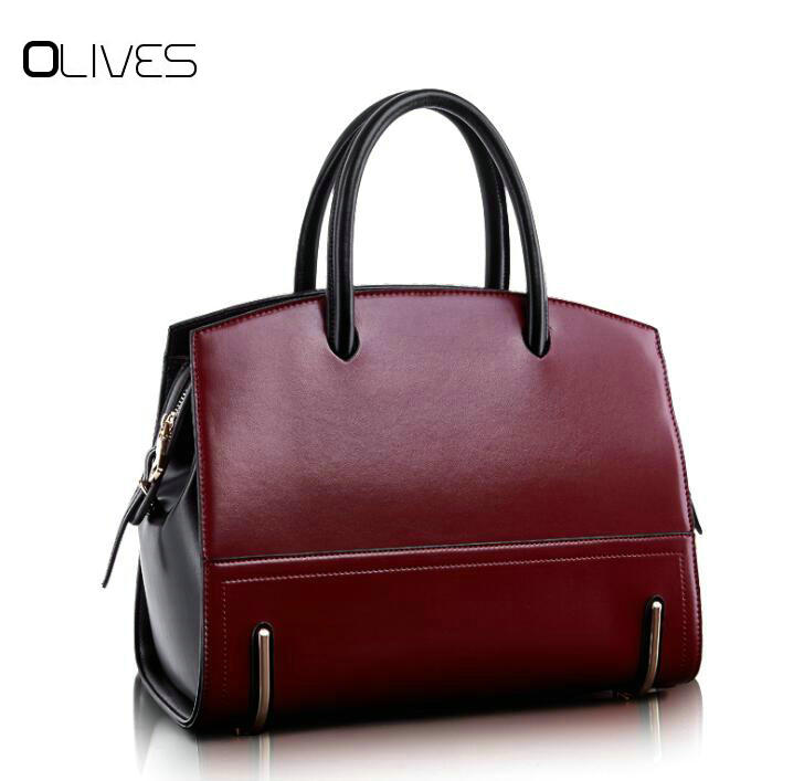 Brands  fashion 100% Genuine Leather Handbags Fashion Women Bags Real Leather Female High Quality Shoulder Bags Crossbody Bags  <br>