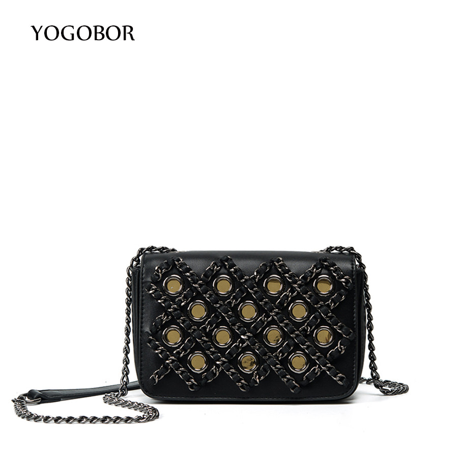 Mini Women Shoulder Bags 2017 New PU Leather Criss-Cross Chains Women Messenger Bags Famous Brands Luxury Classical Women Bag<br>
