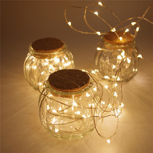 2 Set 30 LEDs Copper Wire lights 9.8Ft/3M string lights for christmas light festival wedding party Home decoration lamp 3 Colors