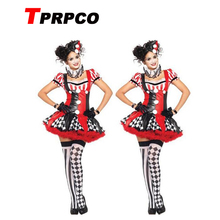 TPRPCO Funny Harley Quinn Costume Women Adult Clown Circus Cosplay Carnival Halloween Costumes For Women CO58157166