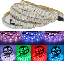 5m DC12V SMD 5050 Led Strip Light RGB / RGBW IP20/IP65 Waterproof Tira Tape Illumination Lighting for Living Room Decoration(China)