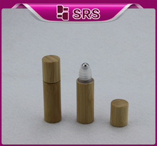 100pcs/lot empty popular 5ml bamboo empty container roll-on eye cream sample bottle(China)