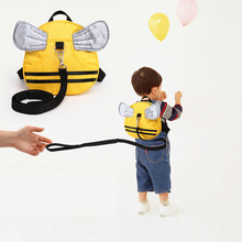 new arrival Anti-lost string backpack for little baby 2 3 4 ages and parents bee shape cartoon kids backpack with wings no smell