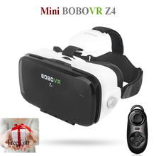 "BOBOVR Z4 Mini Virtual Reality Glasses Google Cardboard Helmet VR Headset 3D Private Theater for 4.7""-6.2"" Smart Phone + Gamepad(China)"