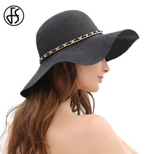 FS 2017 Summer Women Vintage Retro Straw Sun Hat Visor Foldable UV Sun Hat Wide Brim Beach Sombrero Paja Candy Colored(China)