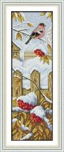 DIY Needlework 11CT 14CT Cross Stitch Winter Scenery!DMC Counted Cross Stitching Kit for Embroidery Knitting Needles Hobby Craft(China)