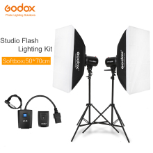 Godox Strobe Studio Flash Light Kit 500W - Photographic Lighting - Strobes, Light Stands, Triggers, Soft Box