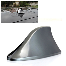 1pc Gray Car Auto Antenna Signal Radio Decorative Trim Stick Car Roof Mounted Shark Fin Shaped Strong Signals for BMW #7785