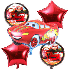 5pcs/lot Cartoon car Foil Balloons star Helium Balloon Inflatable children classic toys happy Birthday balloons Party Supplies