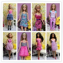 Original Brand Clothing Sets Fashionable DressesFor 1/6 Girl Dolls Casual Dress Suits Girl Birthday Gift Clothes For Barbies