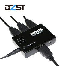 DZLST Mini HDMI Switcher Box Selector with IR Remote Control 1080P 3D HDMI Switcher 3 Ports for HDTV PC PS3 PS4 Xbox360